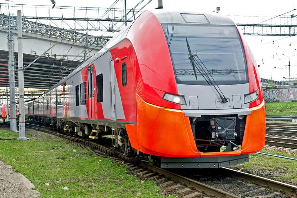 High speed electric railway train