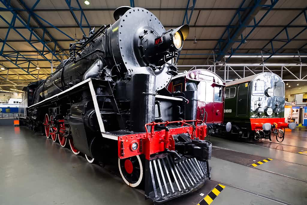 Class KF steam locomotive at the National Railway Museum in York