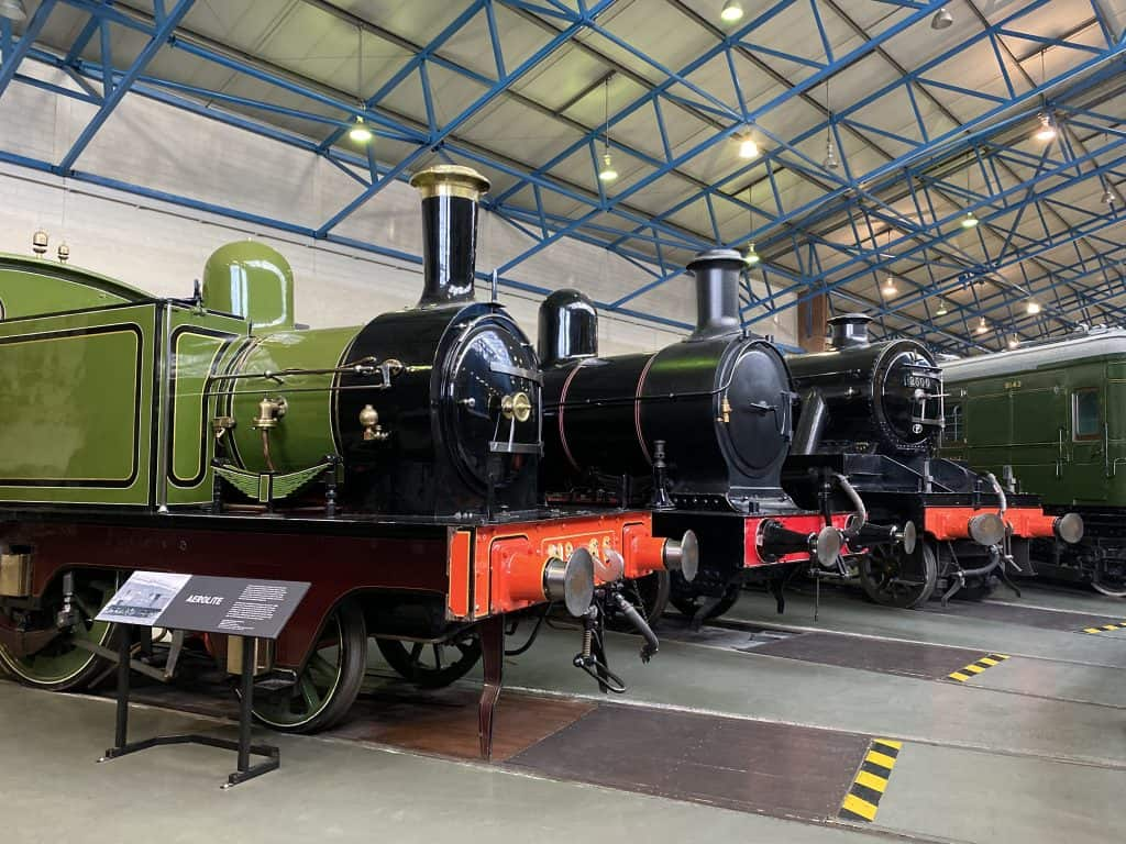 Vintage steam locomotives - National Railway Museum - York - Eng