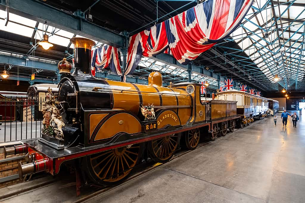 Gladstone, steam locomotive exhibited at the National Railway Mu