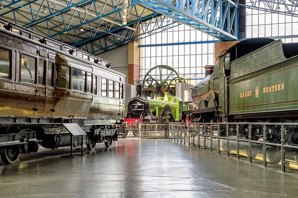 Historic trains in National railway museum
