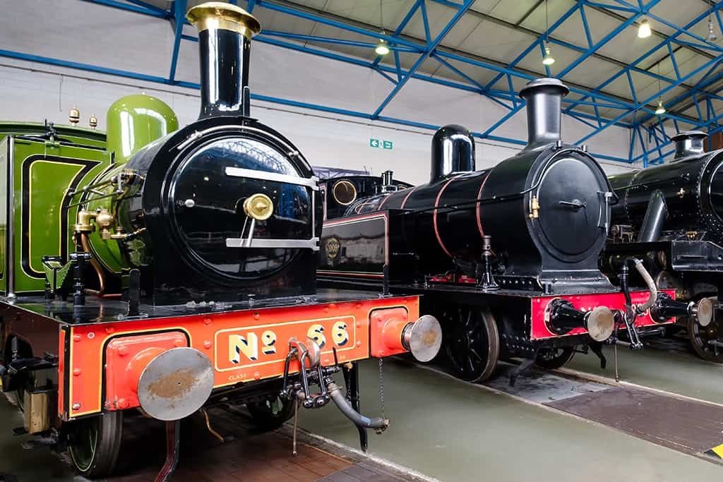 Steam locomotives at the National Railway Museum in York