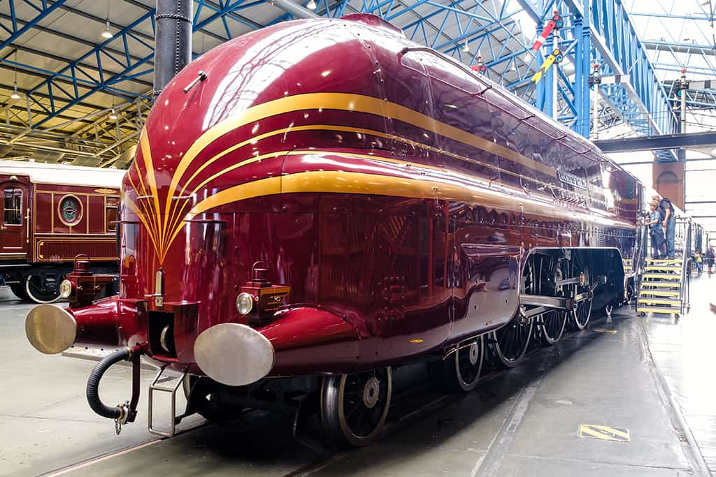 The Duchess of Hamilton at the National Railway Museum in York